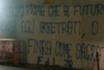 PalaDozza, scritte contro Romagnoli