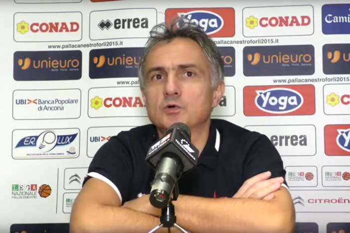 Giorgio Valli pre match Fortitudo