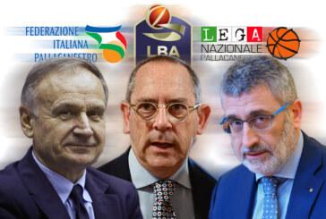 Le risposte di Petrucci e Basciano al Presidente di Lega A Bianchi