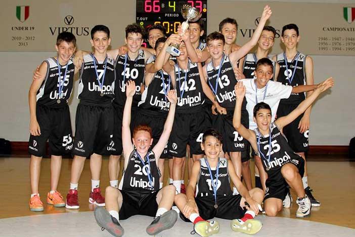 La Virtus Unipol banca Under 13 vince il Torneo Crif