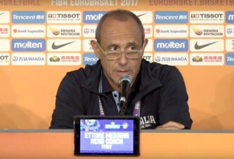 Serie A playoff 2021 Finale G4: <br>Olimpia Milano, coach Messina <br>post match Virtus