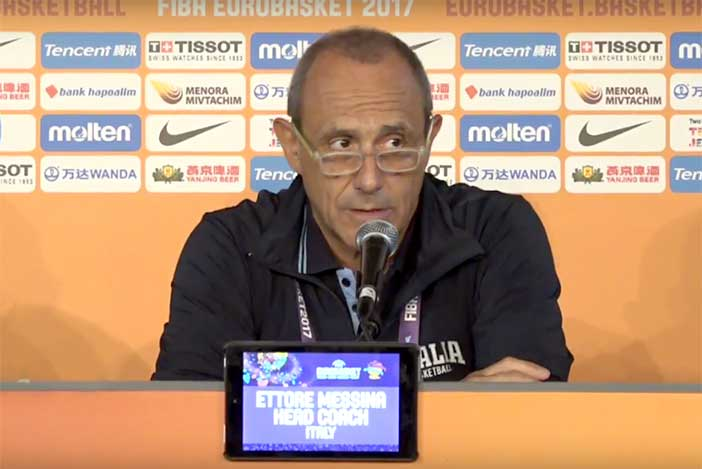 Serie A playoff 2021 Finale G3: <br>Olimpia Milano, coach Messina <br>post match Virtus