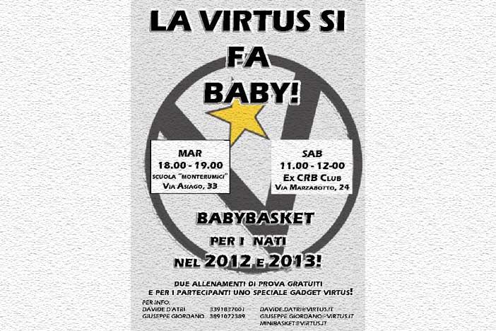 Virtus Unipol Banca si fa baby