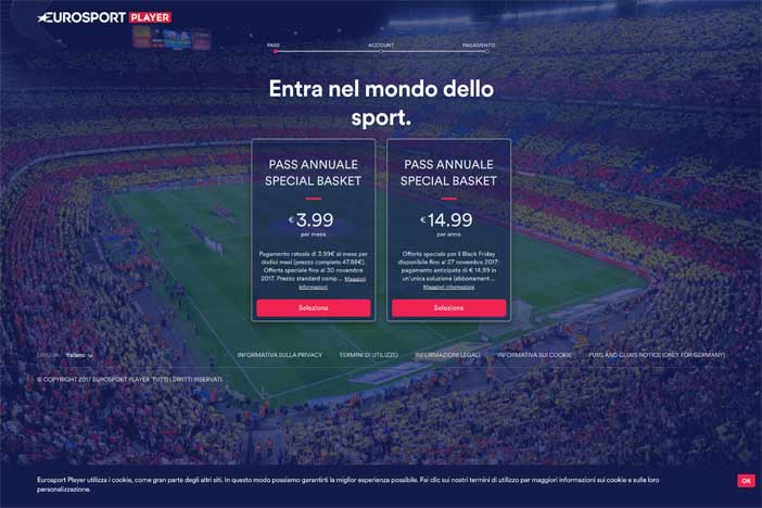 "Il ""Black Friday"" di Eurosport con la sua piattaforma Live Streaming"