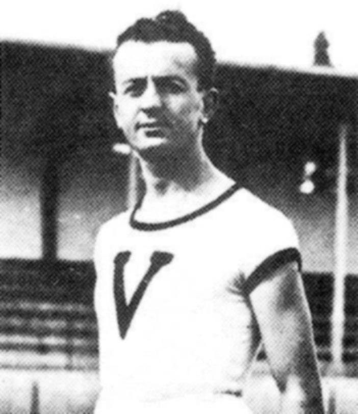Vittorio De Simoni al tempo dell'atletica (tratta dal libro Il Mito della V Nera).