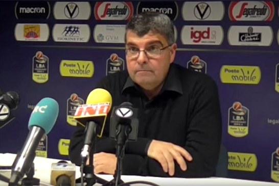 Virtus, la conferenza stampa di Ramagli post match Trento