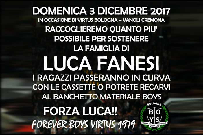 Forever Boys Virtus 1979, raccolta fondi a favore di Luca Fanesi