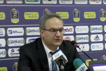Avellino, la conferenza stampa di Sacripanti post match Virtus