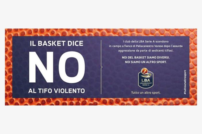 """LegaBasket lancia la campagna """"NO al tifo violento"""""""