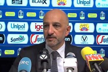 Brindisi, la conferenza stampa di Vitucci post match Virtus
