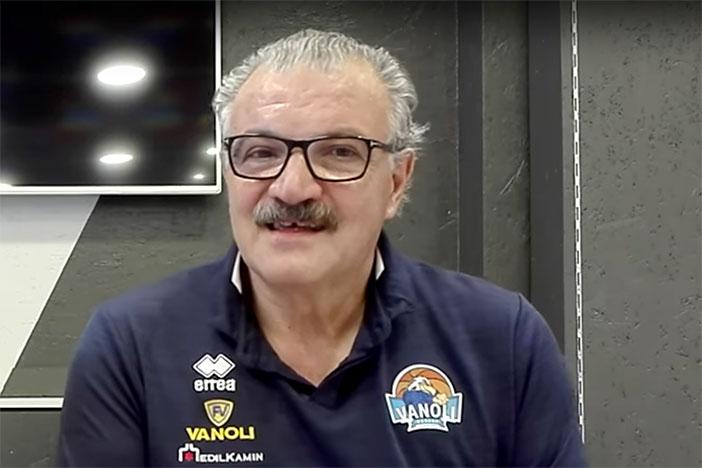 La conferenza stampa di Sacchetti pre match Virtus