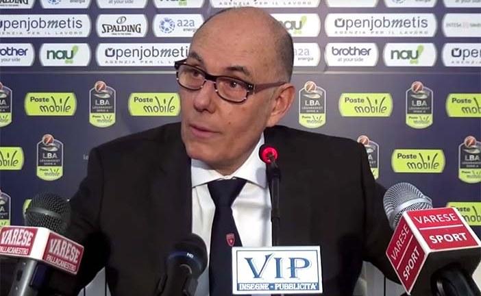 Varese, la conferenza stampa di Caja post match Virtus