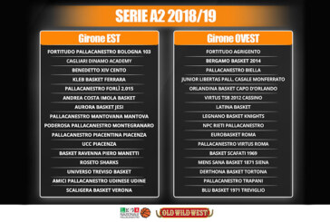 LNP Serie A2: pubblicati i Gironi Est e Ovest