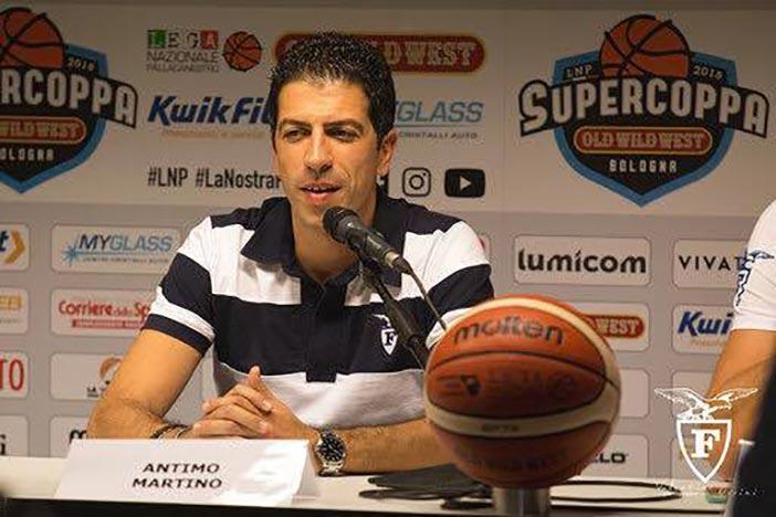 Fortitudo, coach Antimo Martino presenta il match contro Verona