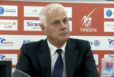 Trieste, Dalmasson presenta il match contro la Virtus