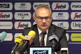 "Virtus, Stefano ""Pino"" Sacripanti post match Pistoia"