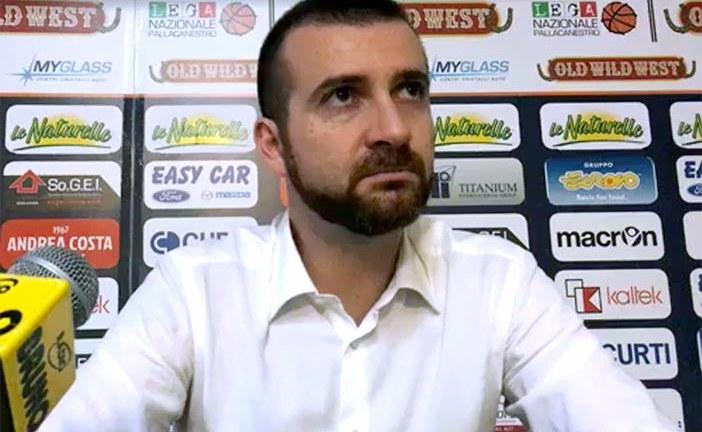 Imola, coach Emanuele Di Paolantonio post match Fortitudo Bologna