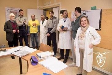 Fortitudo: Rosselli, Venuto e Cinciarini in visita ai bimbi del Sant'Orsola