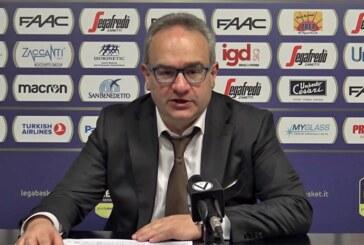 Virtus, coach Stefano Sacripanti post match Cantù
