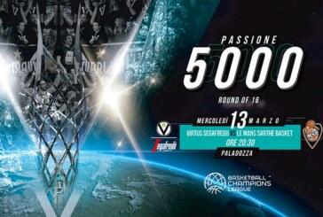 Virtus, oltre 3000 biglietti venduti per la gara di ritorno col Le Mans