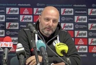 Virtus, coach Aleksandar Djordjevic <br>pre match Trento