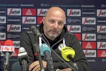 Virtus, coach Aleksandar Djordjevic <br>pre match Dinamo Sassari
