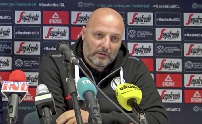 Virtus, Aleksandar Djordjevic pre match Cantù