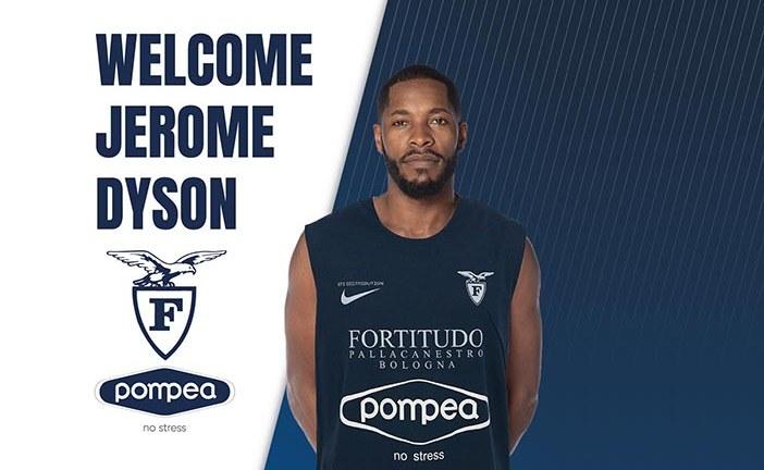 Jerome Dyson è un nuovo giocatore della Fortitudo Pompea