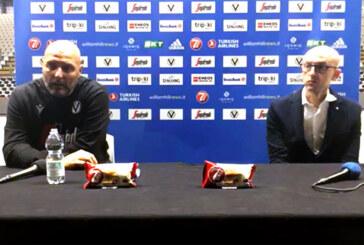 Virtus, la conferenza stampa di Ronci e Djordjevic (pre match Monaco)