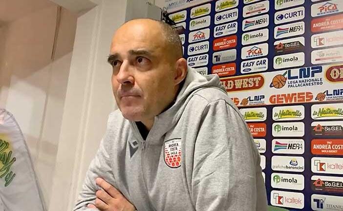 Serie B 2020-21: coach Paolo Moretti post Basket Cesena