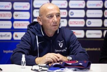 Serie A 2020-21: Luca Dalmonte <br>pre match Reggio Emilia</br>
