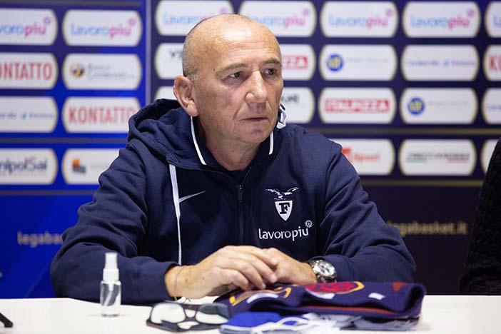 Fortitudo, coach Luca Dalmonte <br>pre match Brescia
