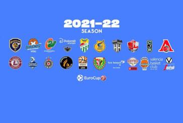 7DAYS EuroCup 2021-22: <br>pubblicati i calendari