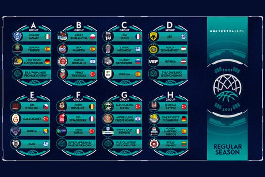 BCL 2021-22: completati i turni <br>di qualificazione e il sorteggio <br>della stagione regolare