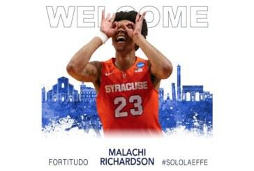 Fortitudo, Malachi Richardson <br>è un nuovo giocatore biancoblù