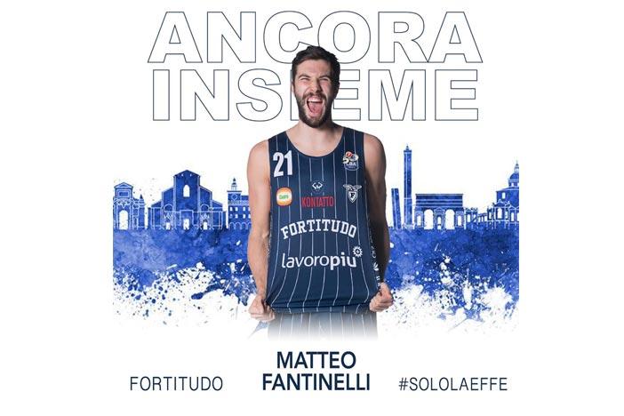 Fortitudo, rinnovo contrattuale <br>per Matteo Fantinelli