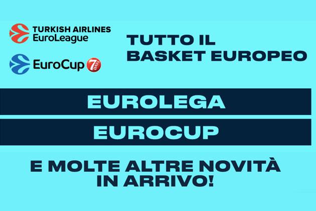 Eurolega e Eurocup: anche Eleven Sports avrà i diritti per la stagione 2021-22