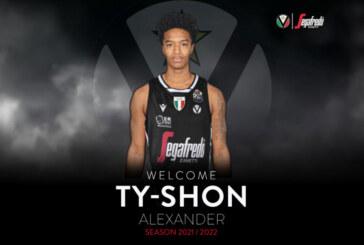 Virtus, Ty-Shon Leron Alexander è il nuovo arrivo